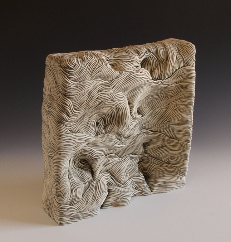 Erik Gellert, Erik, Gellert, earthenware, ceramic, clay, mason stain, landscape, art, sculpture, contemporary craft.