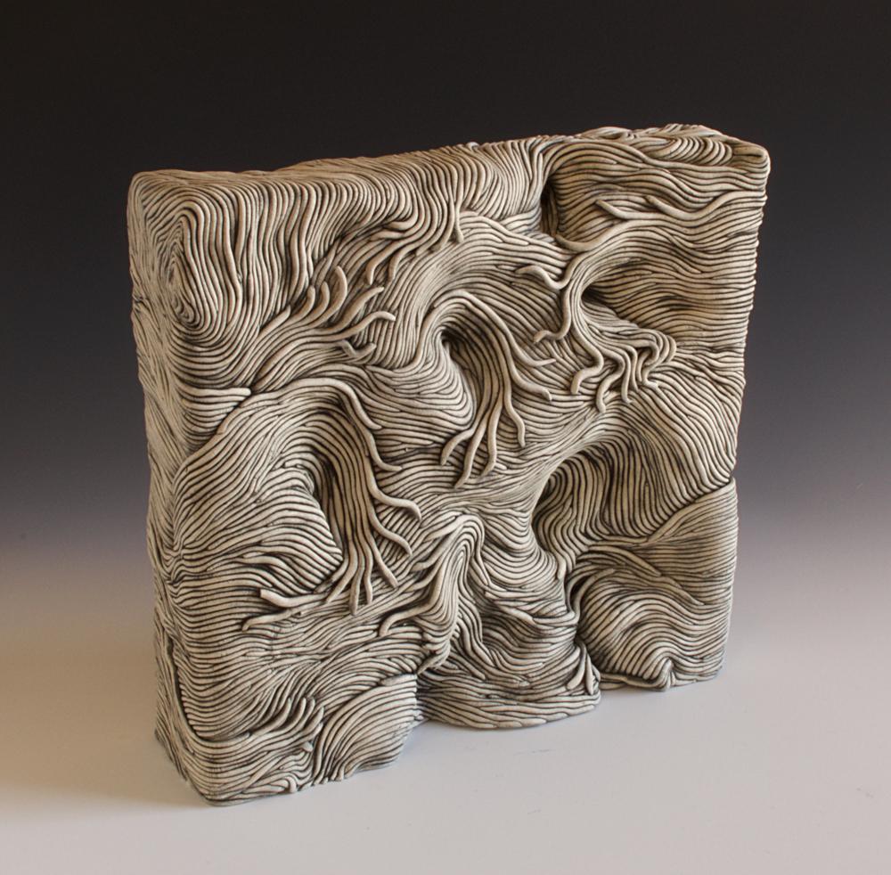 Clay, ceramic, Erik, Gellert, Erik Gellert, square, mason stain, coil ceramic, coils, clay, sculpture, contemporary craft.